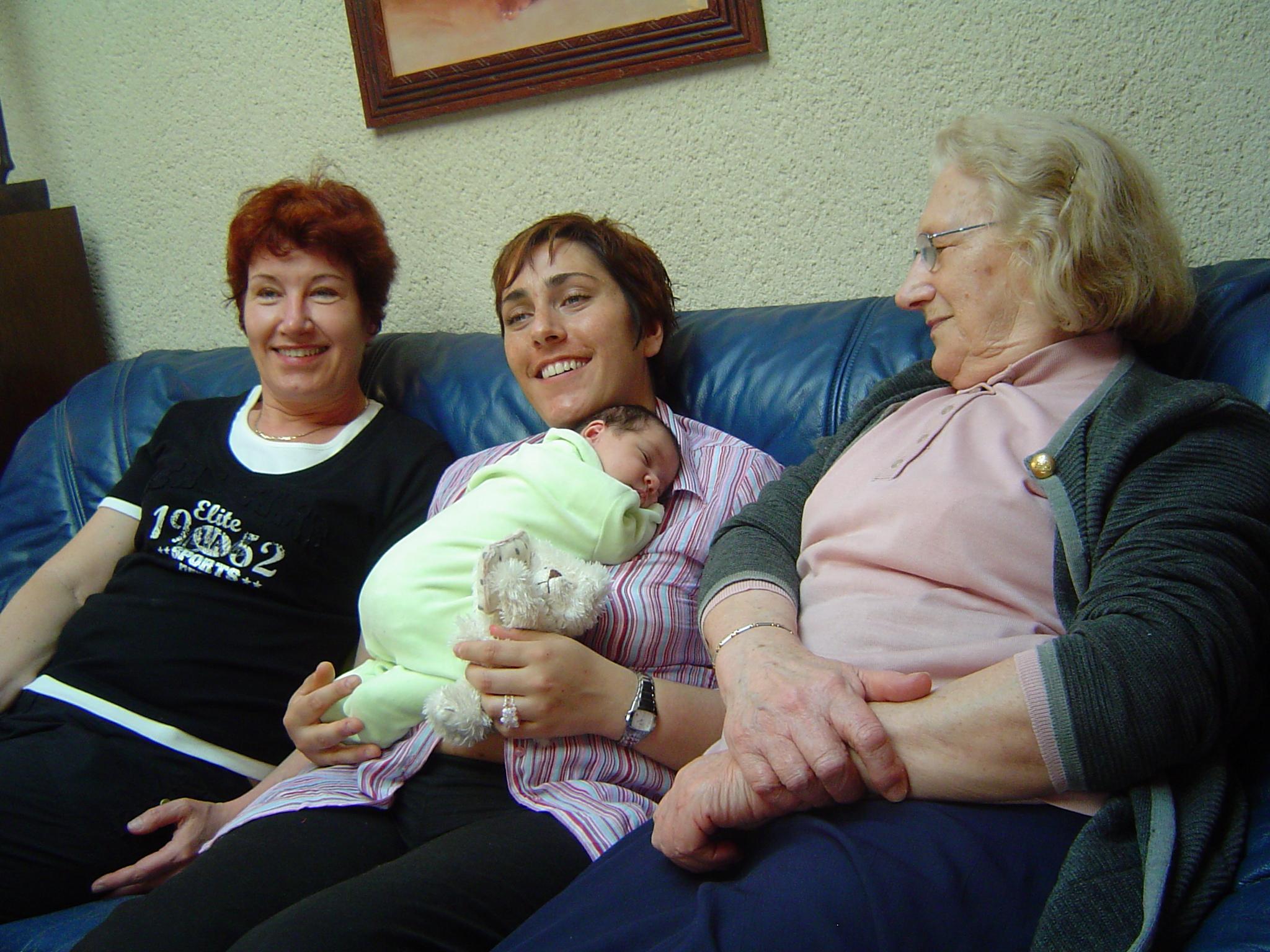 avec mon arrière grand mère